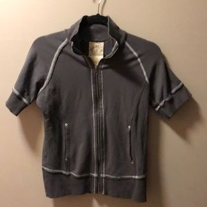 Lucy Short sleeve athletic zip up workout jacket